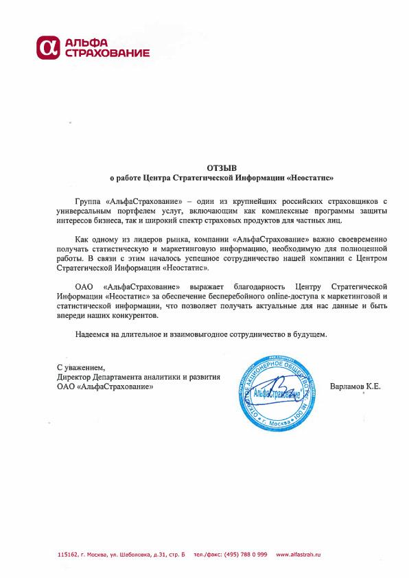 """ОАО """"Альфастрахование"""""""